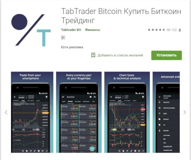приложение TabTrader