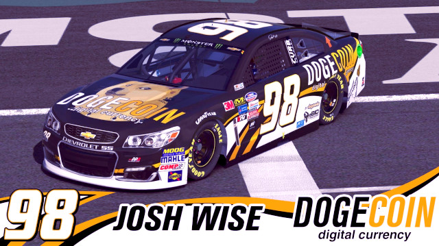 Dogecoin спонсировал гонщика NASCAR